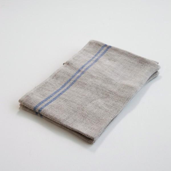 torchon campagne brut liseré bleu de chez Charvet Editions