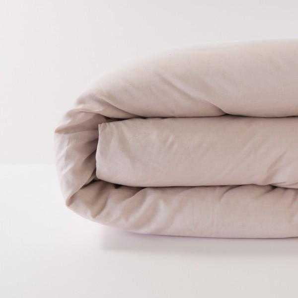 housse de couette en lin 100 pur fil coloris poudre. Black Bedroom Furniture Sets. Home Design Ideas