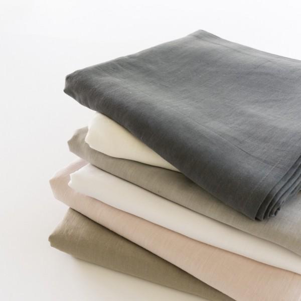 drap de lit plat 100% lin perle: gamme de couleurs