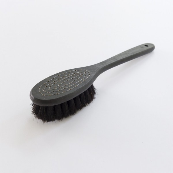 brosse sauna douce noire