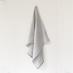 serviette GM lin gris blanc de chez Lapuan Kankurit
