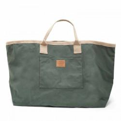 Maxi sac en coton imperméabilisé vert treillis de chez Carrier Company
