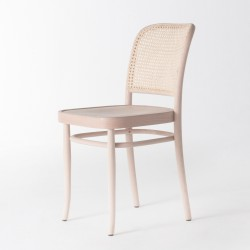 Chaise cannée cirée incolore