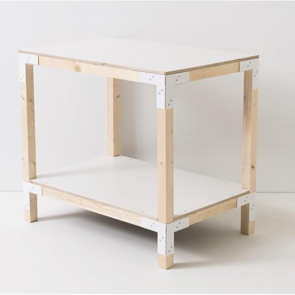 meuble d'appoint 2 niveaux tasseaux de 45x45