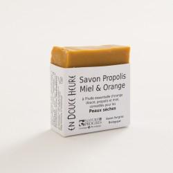 savon biologique propolis miel orange