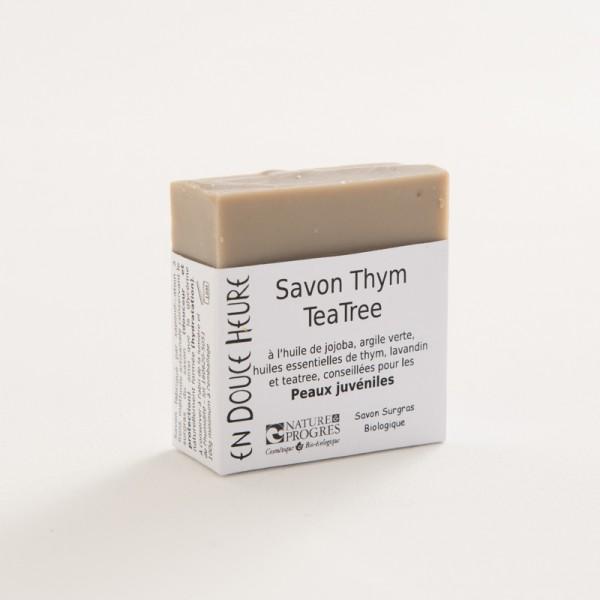savon biologique thym tea tree