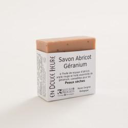savon biologique abricot géranium