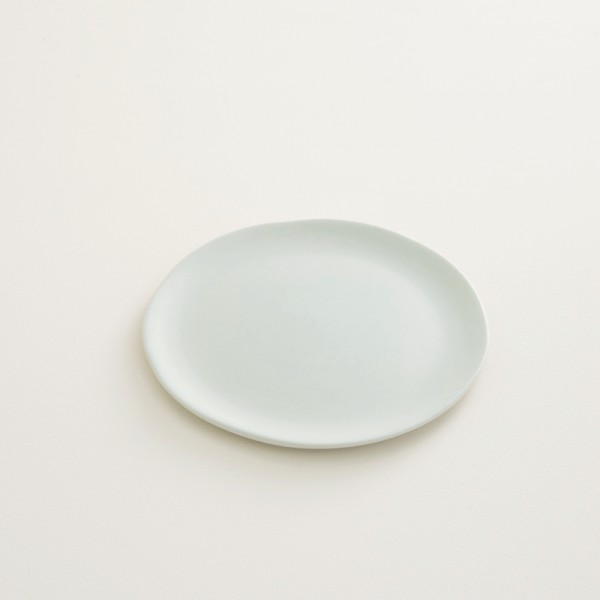 assiette en grès coloris romarin PM
