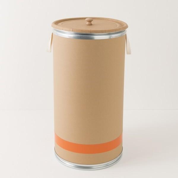 fût en kraft liseré orange