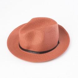 chapeau d'été terracotta vue côté