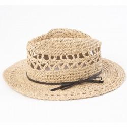 chapeau ajouré naturel