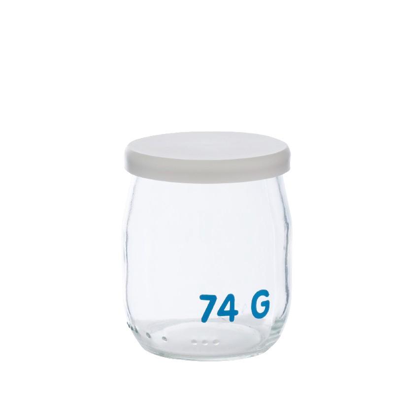 pot de yaourt en verre avec tare contenant picerie en vrac. Black Bedroom Furniture Sets. Home Design Ideas