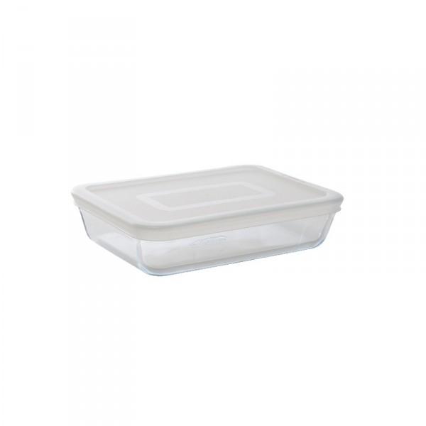 boite hermétique en verre rectangulaire 0.8l pour le zéro déchet
