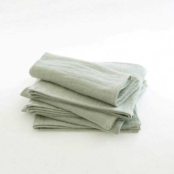 serviette de table en lin d lav amande 45x45. Black Bedroom Furniture Sets. Home Design Ideas