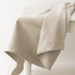nappe en lin naturel de chez Charvet Editions