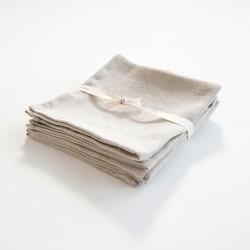 serviette en lin naturel de chez Charvet Editions