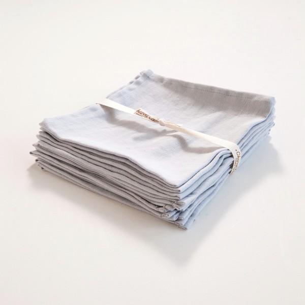 serviette de table en lin coloris bleu glacier. Black Bedroom Furniture Sets. Home Design Ideas