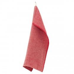 torchon lin lavé rouge