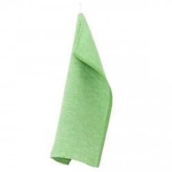 torchon lin lavé vert