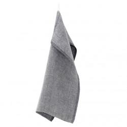 torchon lin lavé gris