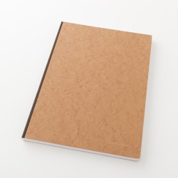 Cahier A4 toilé uni couverture parchemin tabac
