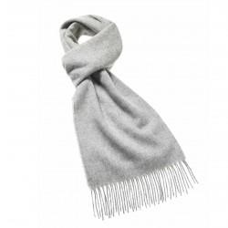 écharpe en laine uni gris