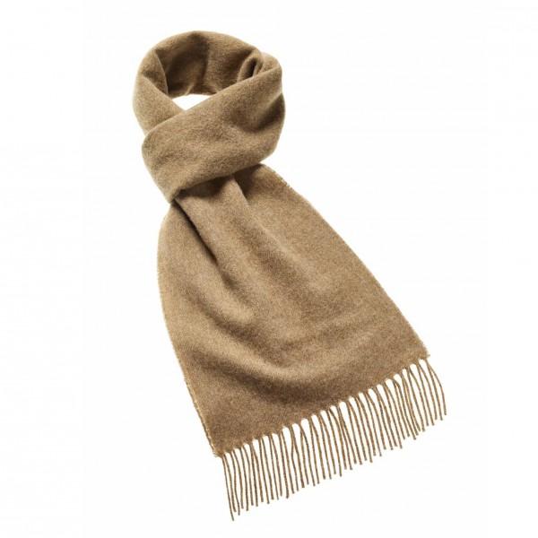 écharpe en laine uni camel