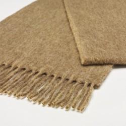 châle en laine uni camel