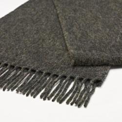 châle en laine uni gris foncé