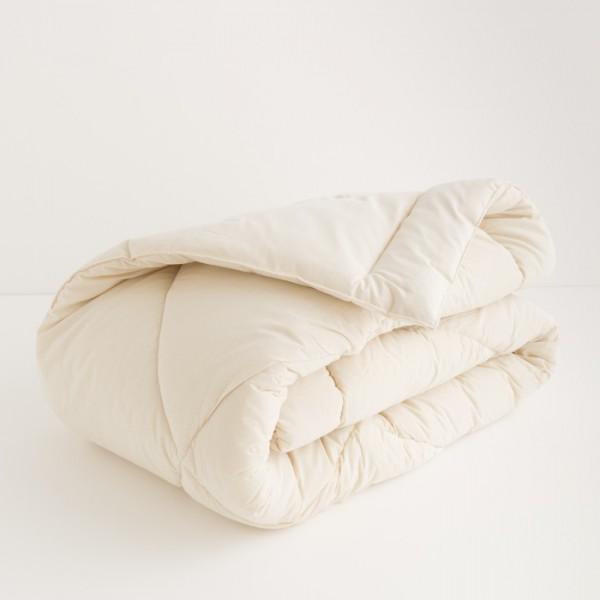 couette mi saison en pure laine vierge artisanale