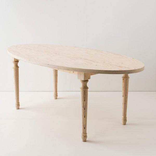 Table multiplis forme ellipse
