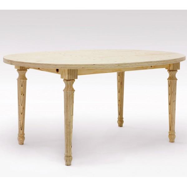 Table multiplis forme ovale