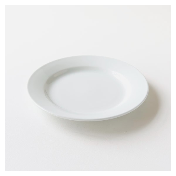 assiette plate en porcelaine blanche brasserie. Black Bedroom Furniture Sets. Home Design Ideas