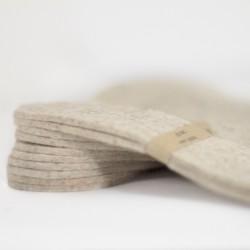 Semelles en feutre de laine
