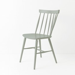 Chaise scandinave laqué gris béton