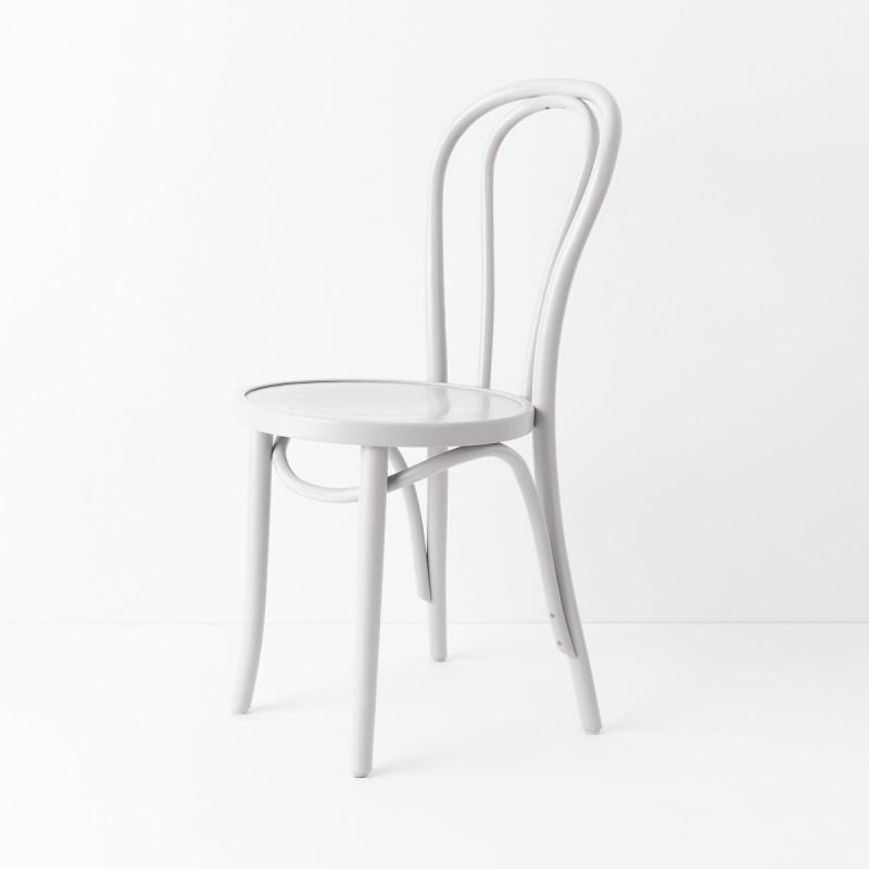 Chaise Bistrot N 18 Laqué Blanc