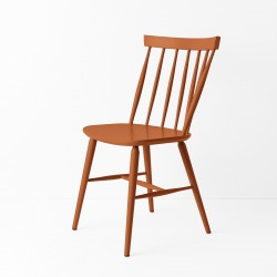 Chaise scandinave terracotta