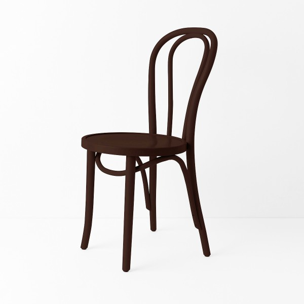 Chaise bistrot N°18 chocolat