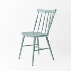 Chaise scandinave bleu gris