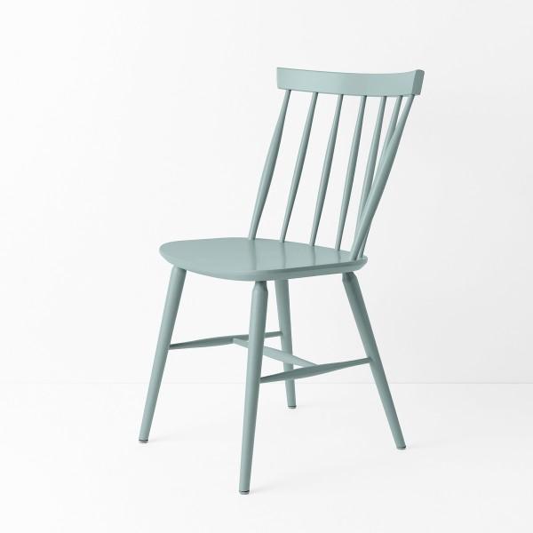 chaise scandinave laqu bleu gris. Black Bedroom Furniture Sets. Home Design Ideas