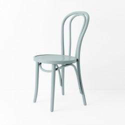Chaise bistrot N°18 bleu gris