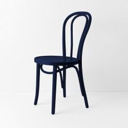 Chaise bistrot N°18 bleu nuit