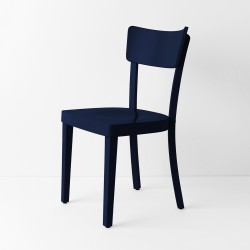 Chaise Filby bleu nuit