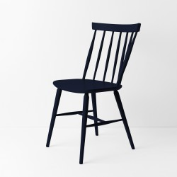 Chaise scandinave bleu nuit