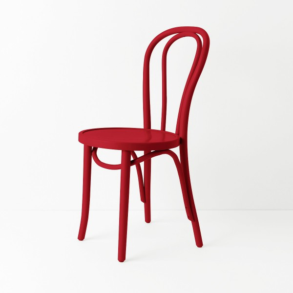 chaise bistrot n18 rouge - Chaise Bistrot Rouge