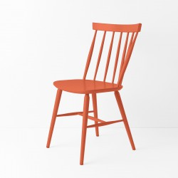 Chaise scandinave orange