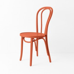 Chaise bistrot N°18 orange