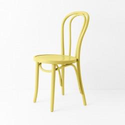Chaise bistrot N°18 jaune