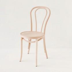 Chaise bistrot N°18 en hêtre courbé brut à peindre