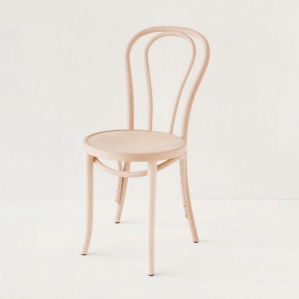 Chaise bistrot N°18 en hêtre courbé cirée ou vernie incolore